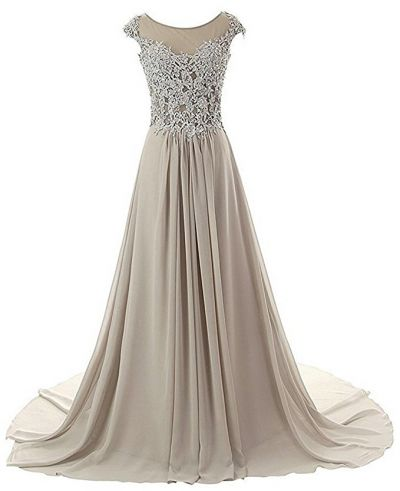 cap sleeve longue evening gown