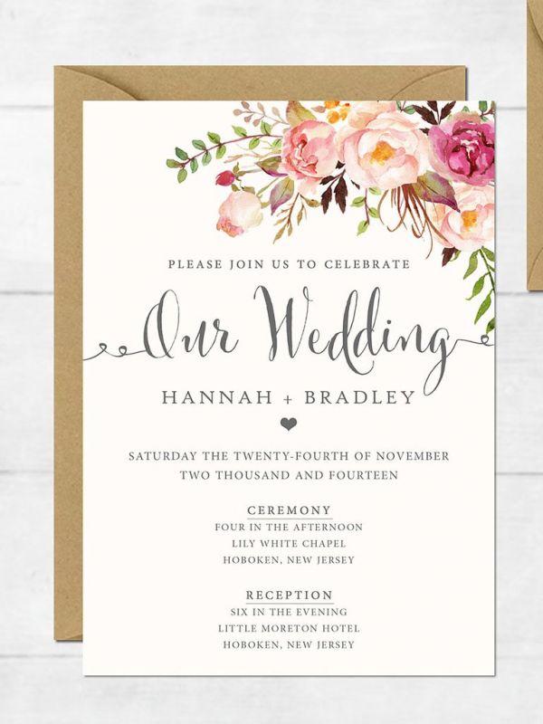 playful formal wedding invitation