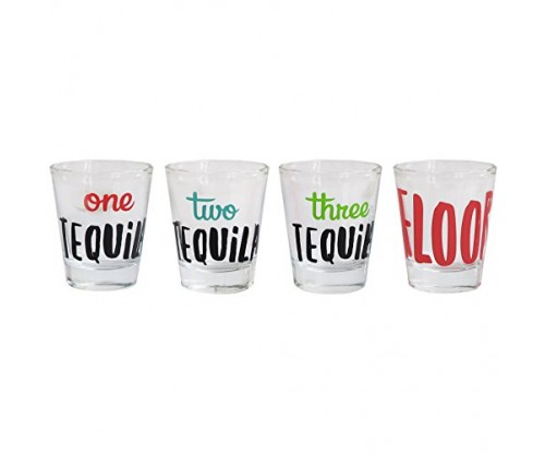 Cheers Shot Glass Set, 4 Piece Drinking Game