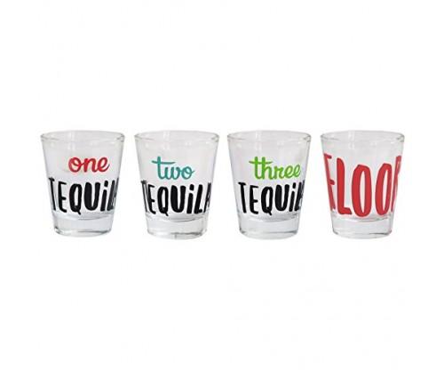 Cheers Shot Glass Set, 4 Piece Drinking Game