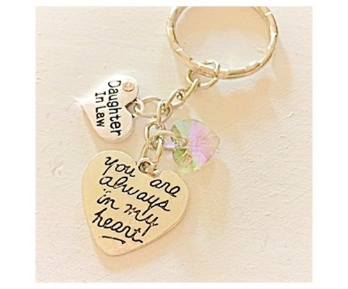 Daughter-In-Law Silver Charm Keychain