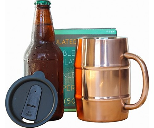 Pure Copper Insulated Beer Mug