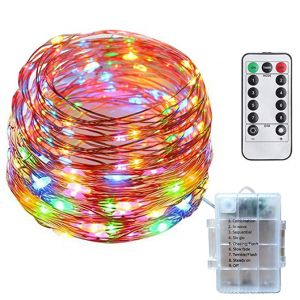 Tecland 8 Modes 33FT 100 LED Copper Wire String Light