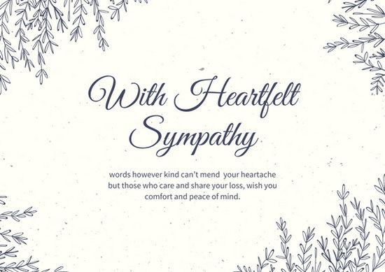 sympathy wishes