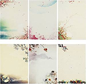 30Pcs Vintage Stationery Floral Writting Paper