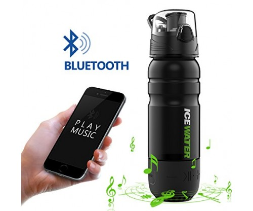 2-in-1 Water Bottle+Bluetooth Speaker