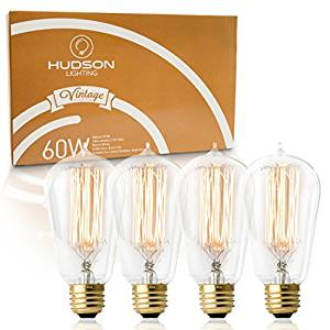 Antique Vintage Edison Bulb ST64 - Hudson Lighting 60 watt Vintage Light Bulb