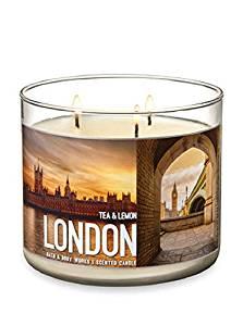 Bath & Body Works Scented 3-Wick Candle in LONDON Tea & Lemon