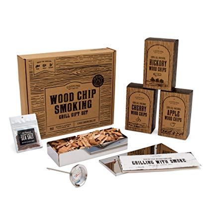 Cooking Gift Set: BBQ Smoker Wood Chip Grill