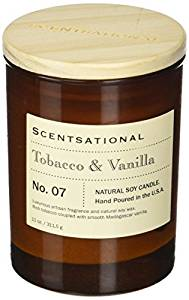 Scentsational Apothecary-Tobacco & Vanilla Candle