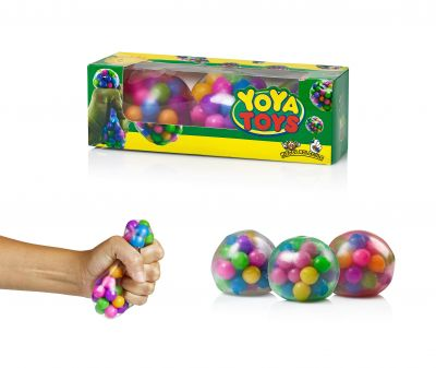 YoYa Toys DNA Stress Balls [3 Pack] - Squeezing Stress Relief Ball - For Kids & Adults