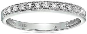 1/6 ctw Petite Diamond Wedding Band in 10K White Gold
