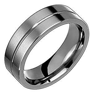 Alain Raphael 6 Millimeters Wide Titanium Ring Matte Finish Single Groove Wedding Band Unisex