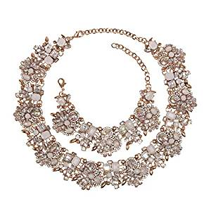 Holylove Crystal Vintage Statement Necklace