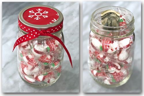 Candy Jar with Money