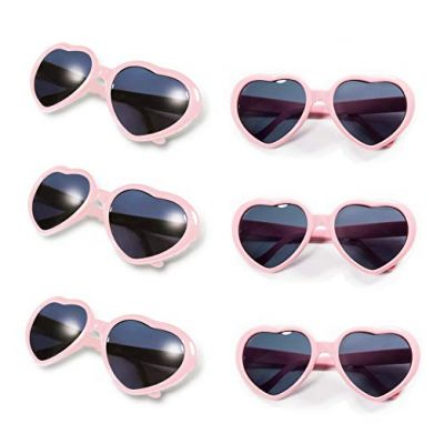 Gyaya Neon Colors Party Favor Heart Shape Sunglasses