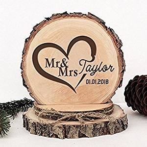 KISKISTONITE Wooden Wedding Cake Toppers