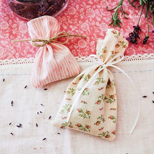 homemade flower or herb sachets
