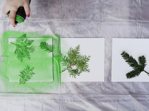 spray painted foliage
