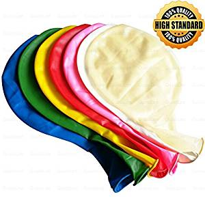 """7 Big Balloons -36"""" Assorted Helium Balloons for Birthdays Wedding and Event Decorations"""