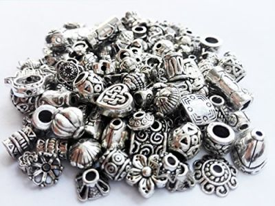 Crafty EC-5004 120-Piece Bali Style Jewelry Making Metal Bead Caps Deluxe New Mix, 40gm, Silver by e Crafty