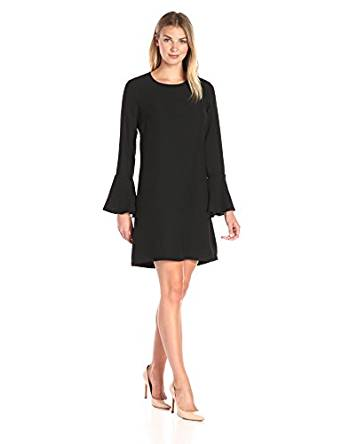 Lark & Ro Women's Flutter Cuff Shift Dress