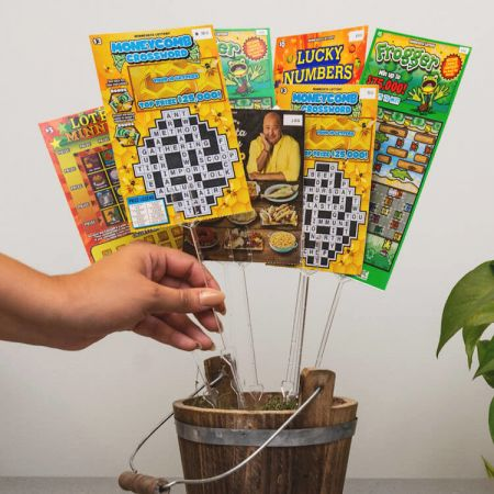 Lottery ticket bouquet