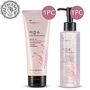 The Face Shop Rice Water Bright Cleansing Foam Set