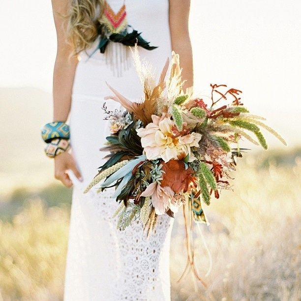 feather wessing bouquet