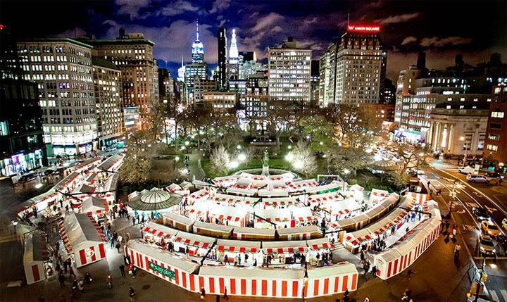 Union Square Holiday Market: New York City, NY