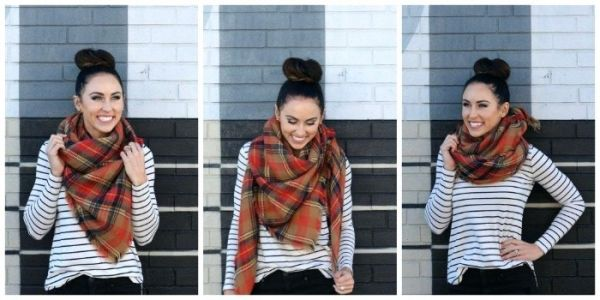 hot to wear scarf