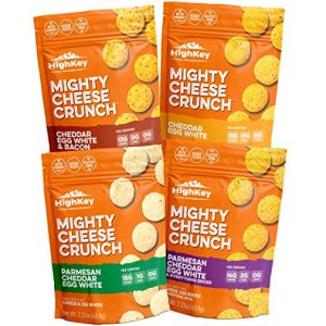 Low Carb, Gluten Free, High Protein Healthy Cheese and Egg Snack – Savory, Keto & Diet Friendly Cheese Crunch with Natural Ingredients, Variety Pack