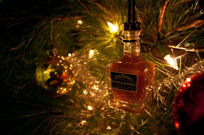 Mini alcohol ornaments