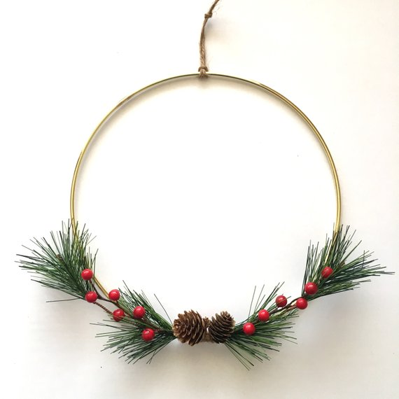Minimalistic Wire Wreath