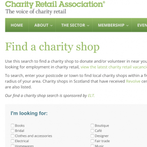 charity shop finder uk