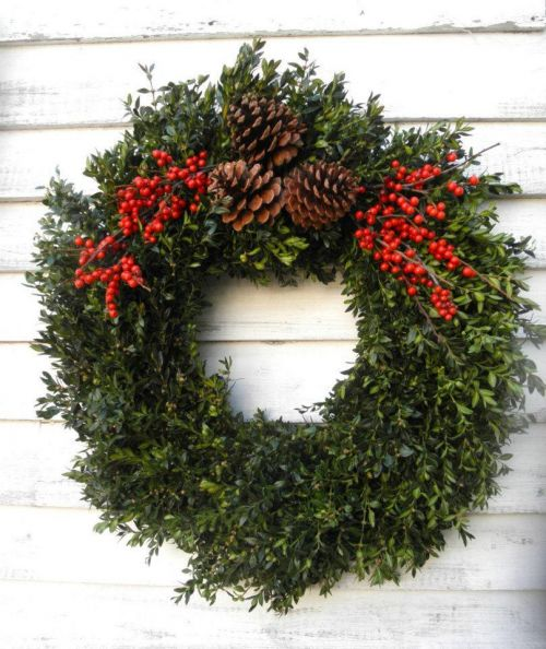 christmas Boxwood Wreath