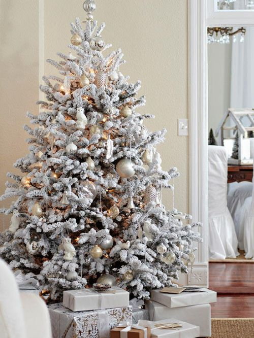 fake snow christmas tree