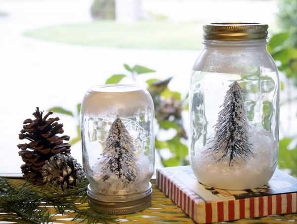 mason jar faker snow