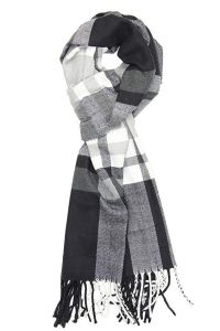 Achillea Men's Cashmere Feel Tartan Plaid Checked Winter Warm Scarf