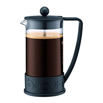 Bodum Brazil French Press Coffee Maker, 34 Ounce, 1 Liter, Black