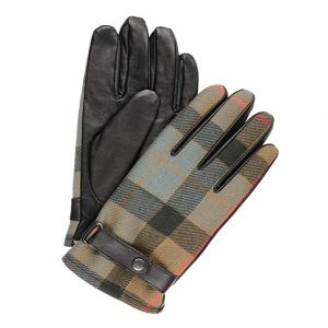 Men's Leather and Tartan Gloves