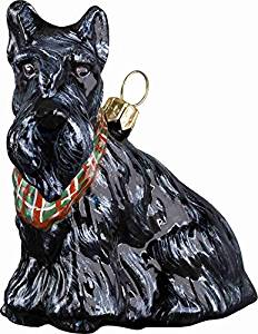 Scottish Red Tartan Scottie Dog with Bow Clip on Charm