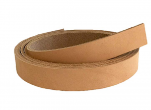 "Springfield Leather Company 84"" Vegetable Tan Cowhide Leather Strip (1"")"