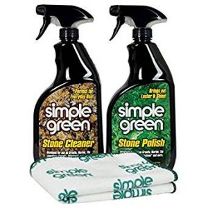 Simple Green Stone Cleaner and Polish Kit with Microfiber Towel 32 Oz Each
