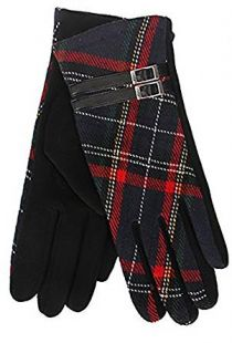 Tartan Traditions Check Tartan with Buckle Lined Ladies Gloves