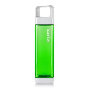 Clean Bottle The Square Leak Proof BPA-Free Tritan Plastic Sports Water Bottle