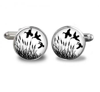 Duck Hunting Stainless Steel Cufflinks 16mm