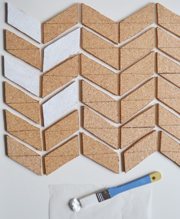 Herringbone Cork Board