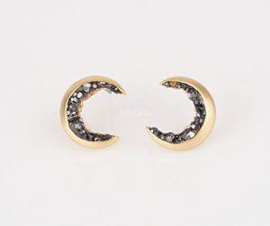 MJLuLu Gold Plated Crescent Moon Stud Earrings