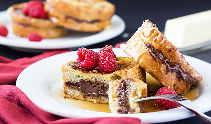 Nutella-Stuffed French Toast